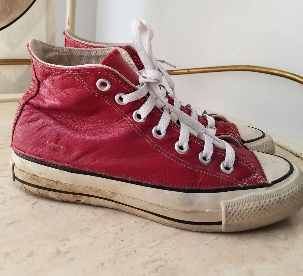 c9e01b652c4ada Details about vintage usa converse chuck taylor hi red leather jpg 1000x913 Converse  usa