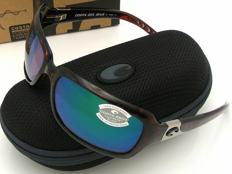 eb6ed8a20d Details about NEW Costa Del Mar ISABELA Tortoise   580 Green Mirror Glass  580G