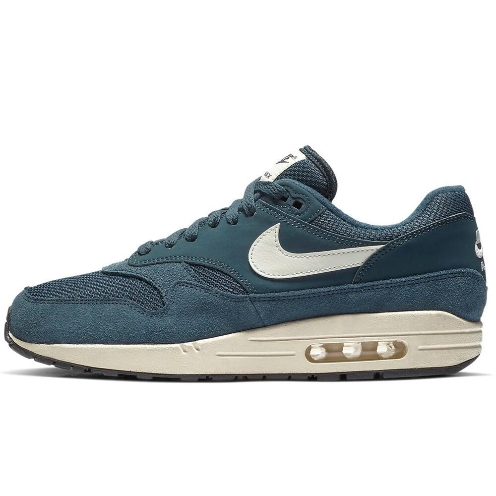 2d30940388b130 Details about New Nike Men s Air Max 1 Shoes (AH8145-401) Armory Navy Sail- Black