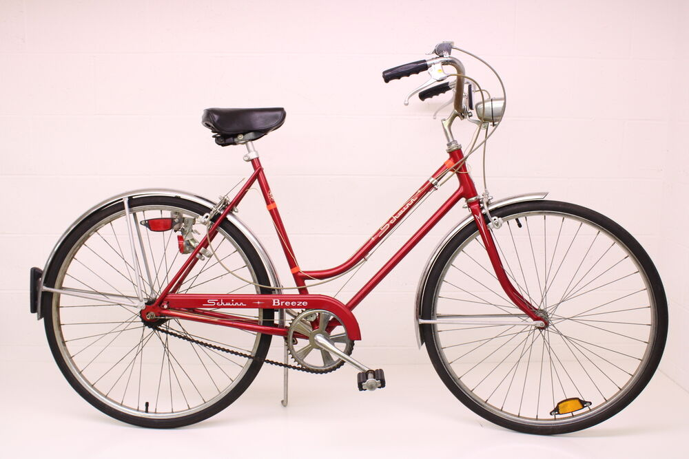 127f2a72723 Details about Vintage 1974 Ladies Girls Schwinn Breeze 3 Speed Tourist  Bicycle Red Bike
