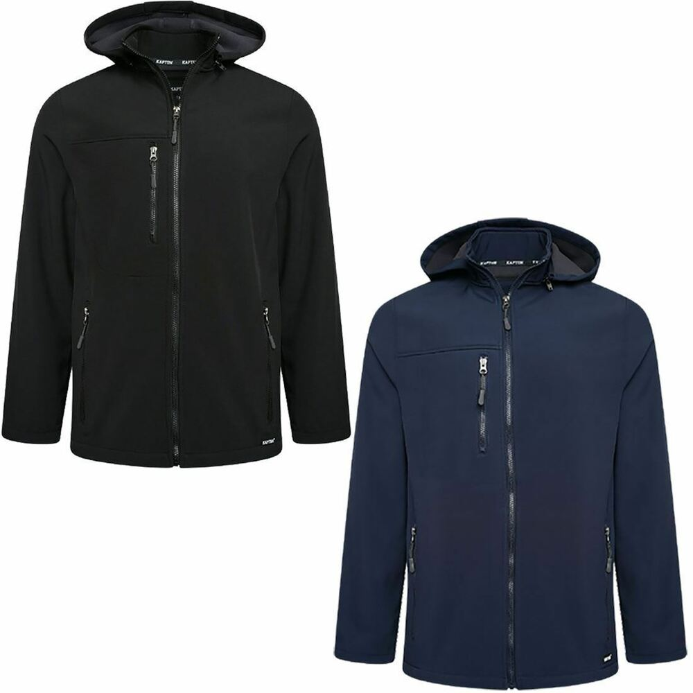 Details about Mens Soft Shell Fleece Full Zip Jacket Wind And Rain Resistant  Breathable Hoodie 75a213273f3e