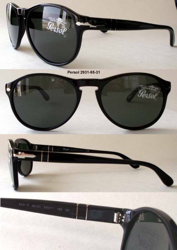 6ccb9dc8d0 Details about PERSOL 2931 SUNGLASSES Robert Pattinson Tom Cruise BLACK -  GREY GREEN