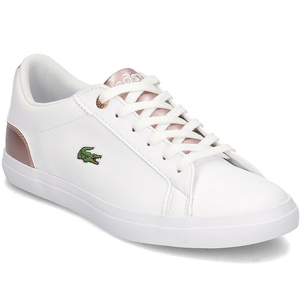 da9dd9d2bc97 Details about lacoste lerond 318 3 leather trainers kids girls womens