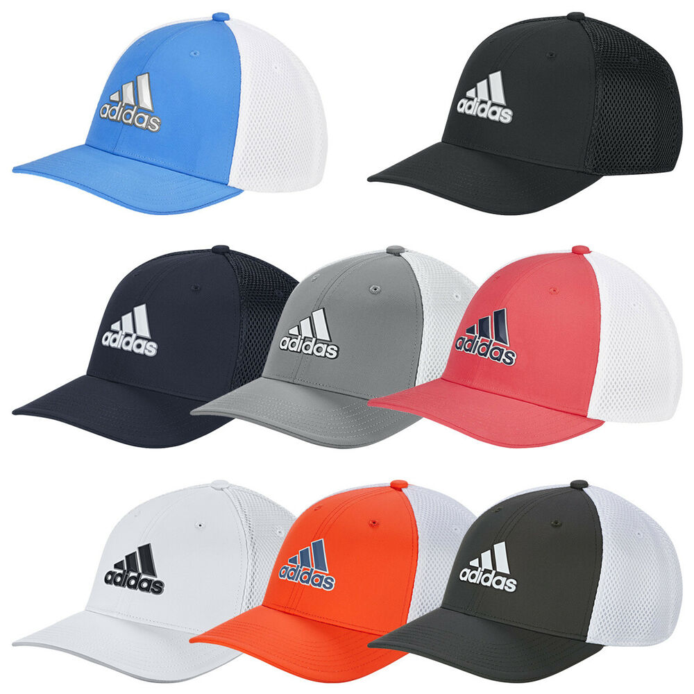 Details about 2019 Adidas Mens A-Stretch Tour Cap Golf Fitted Breathable  Mesh Baseball Hat 7bb23025639