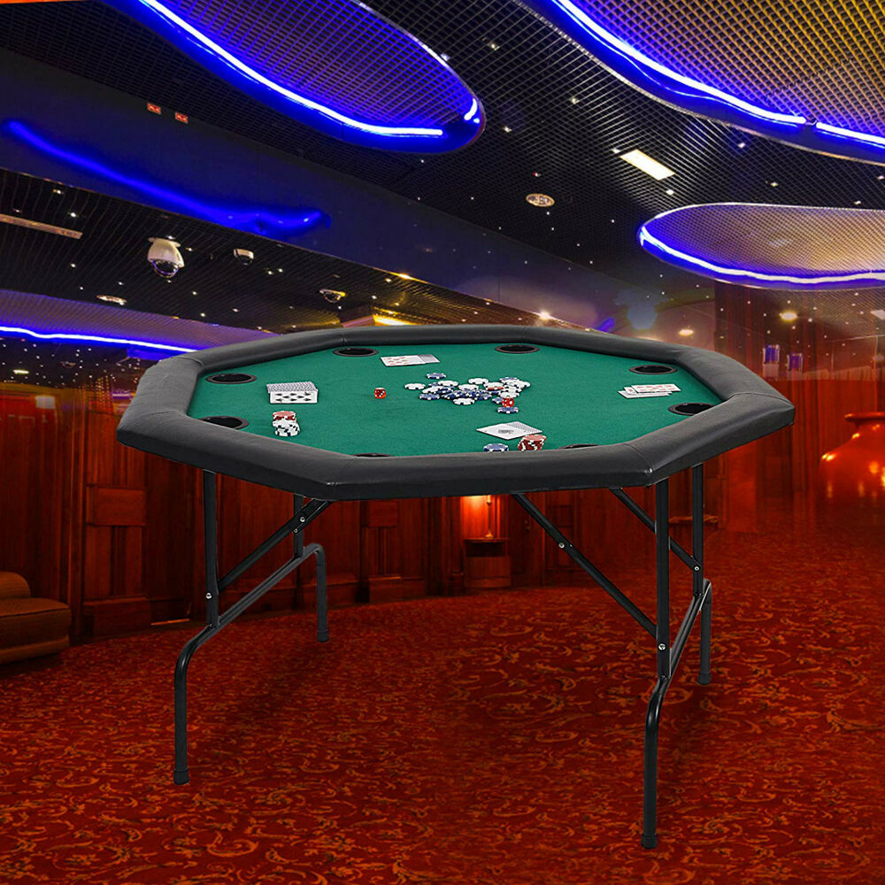 48 Quot Octagon Folding Texas Poker Table Casino Game For 8
