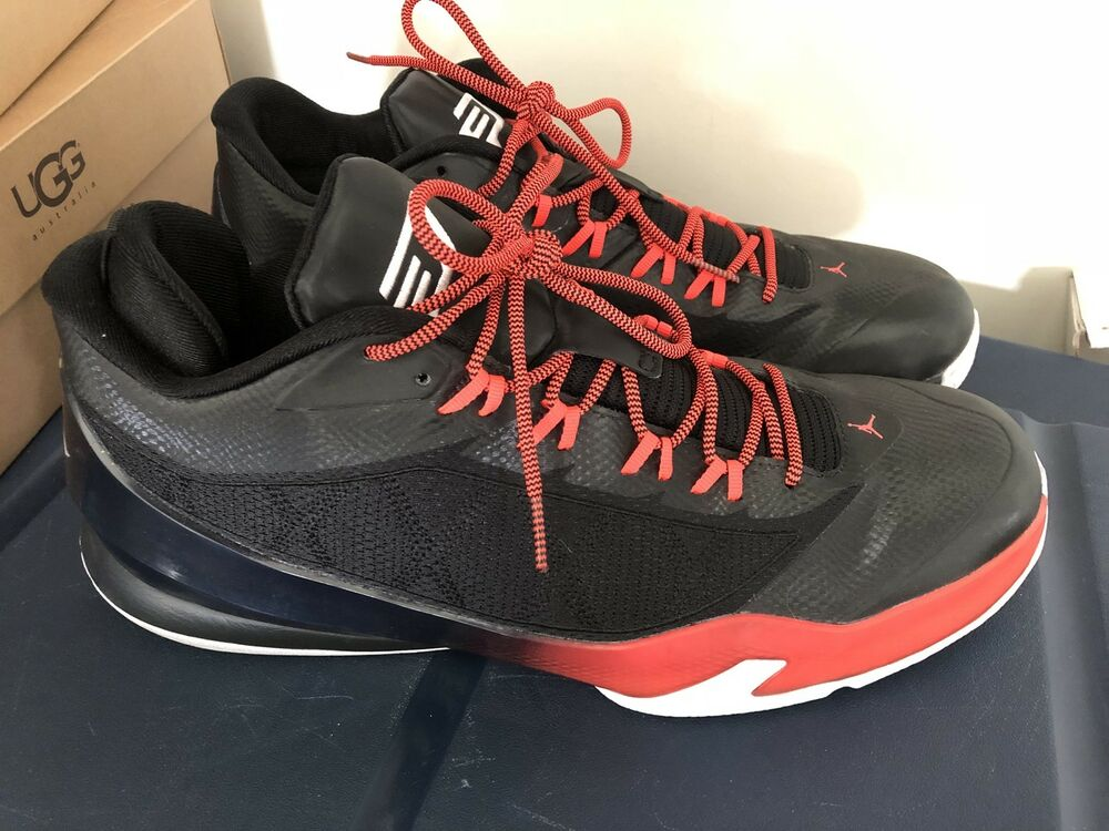 low priced fdf74 8f3f8 Details about Nike Jordan CP3.VIII Black Infrared Red White 12 684855 023