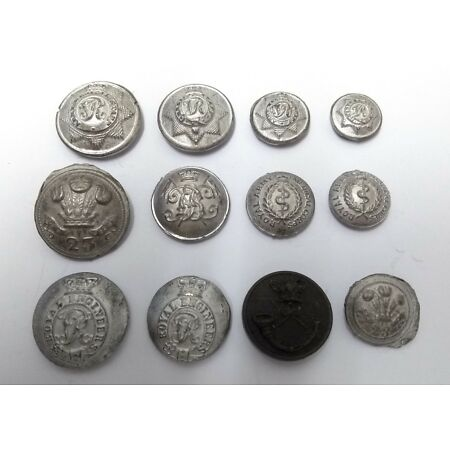 img-Genuine Military Issue Button Castings Casts Mouldings Assorted Insignia & Sizes
