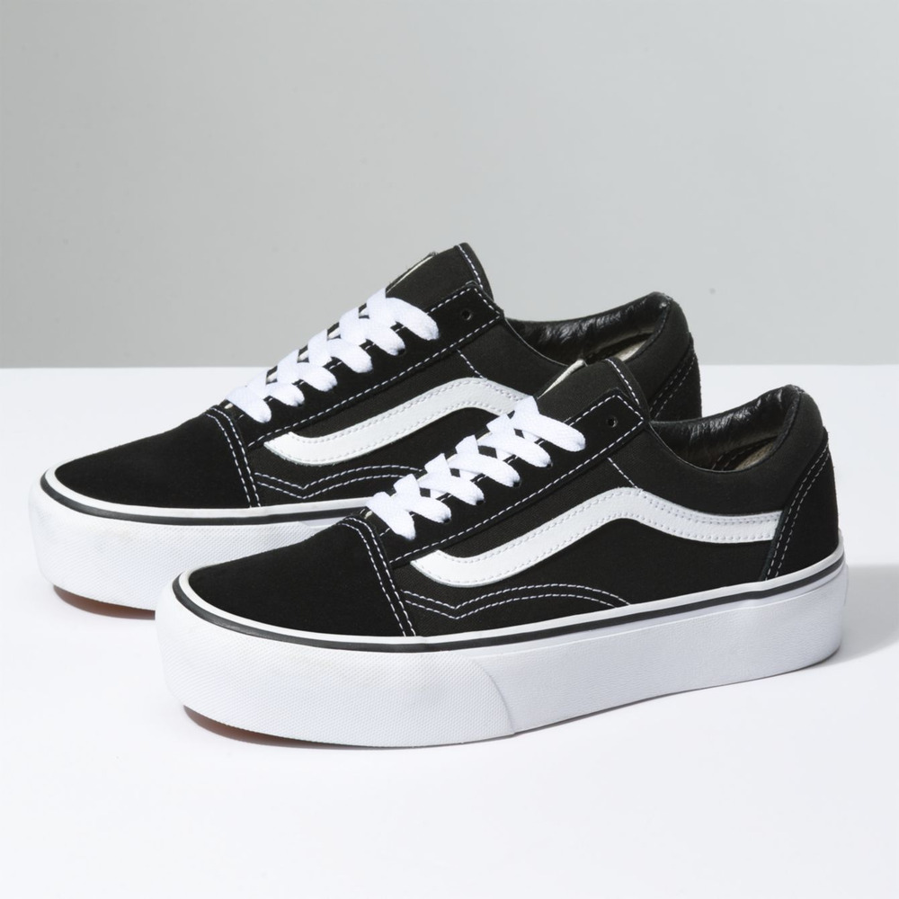 deb1d60b7f5 Details about New Vans Old Skool Platform Black Skateboarding Shoes Classic  Canvas Suede Shoes