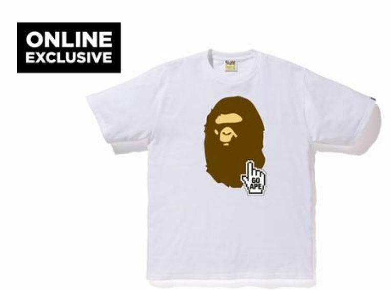 729a9fd56584 Details about Bape Online Tee (White) new with tags men size XL free  shipping