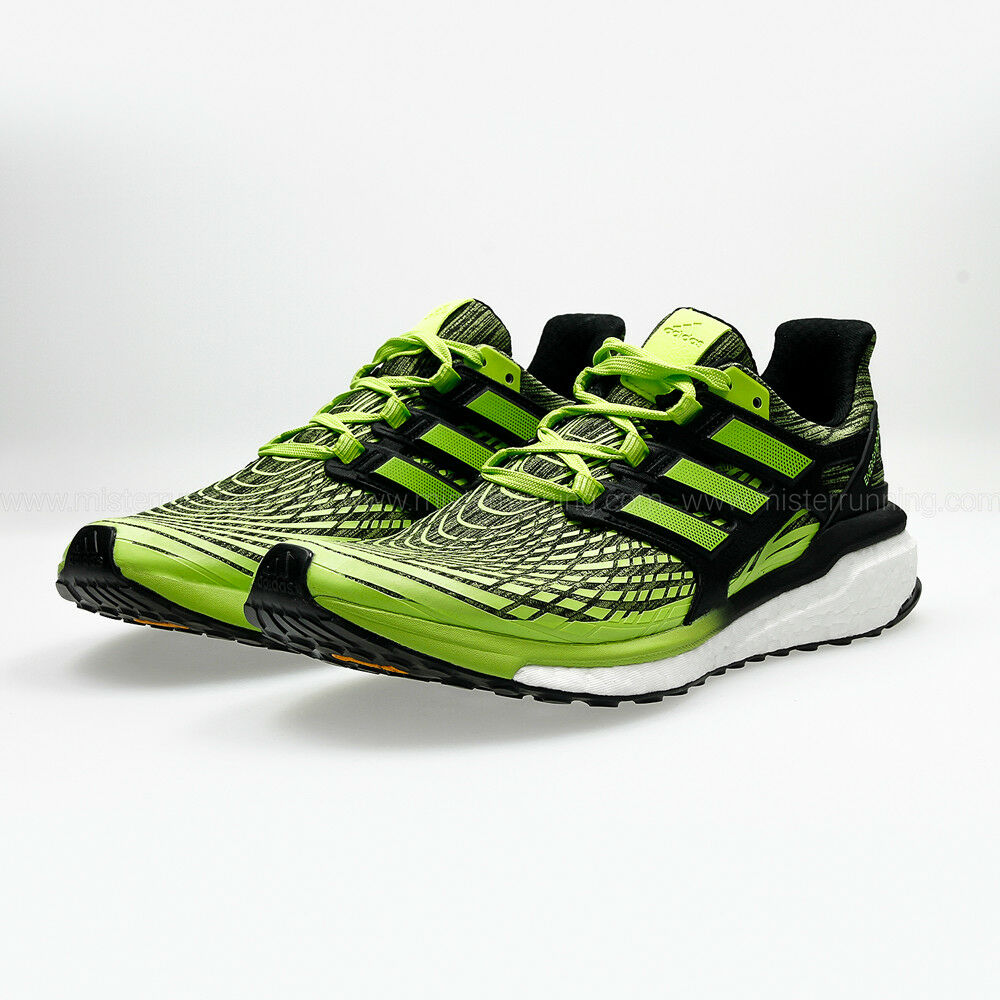 94560af8dd80f Details about Brand New Adidas Energy Boost Men s Running Shoes CP9542 Solar  Slime Black Men s