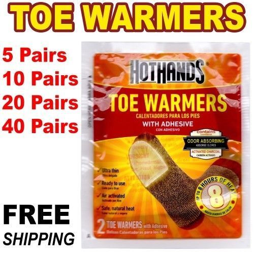 40 pairs HotHands Toe Warmers