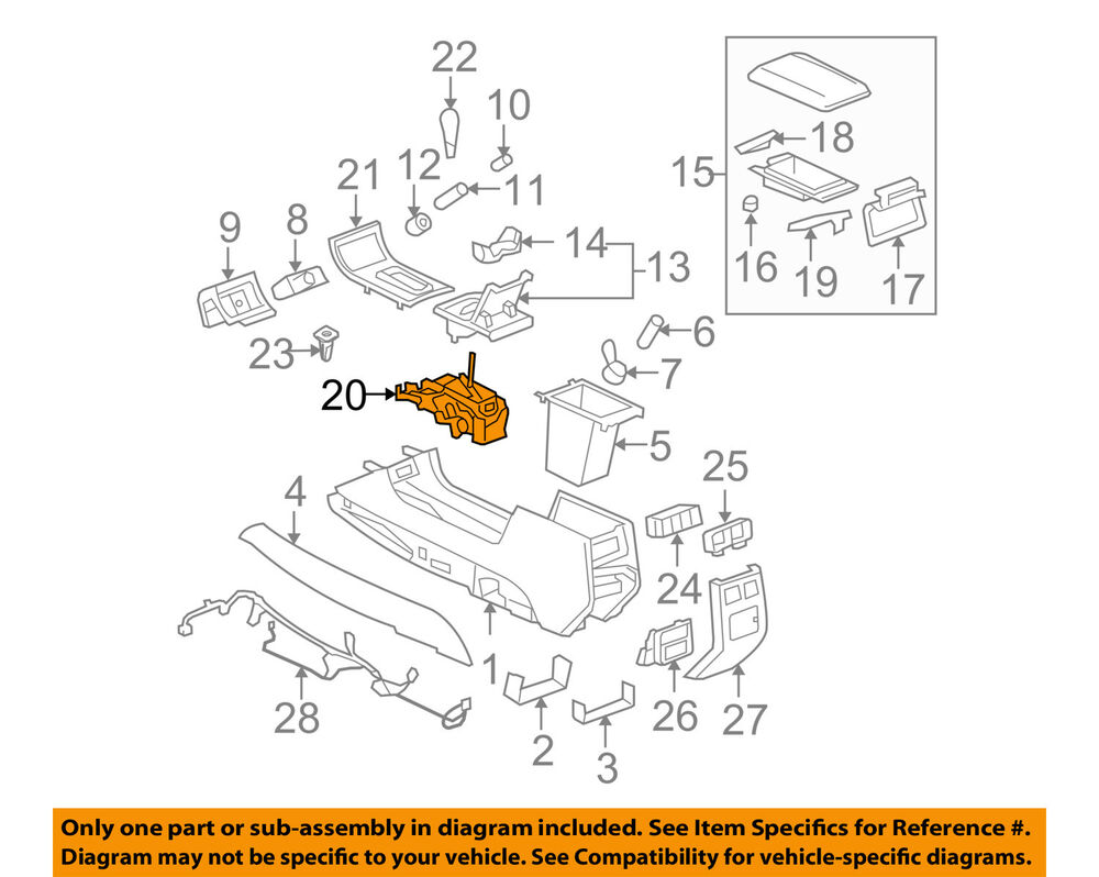details about cadillac gm oem 06-11 dts transmission-gear shifter shift  25927245