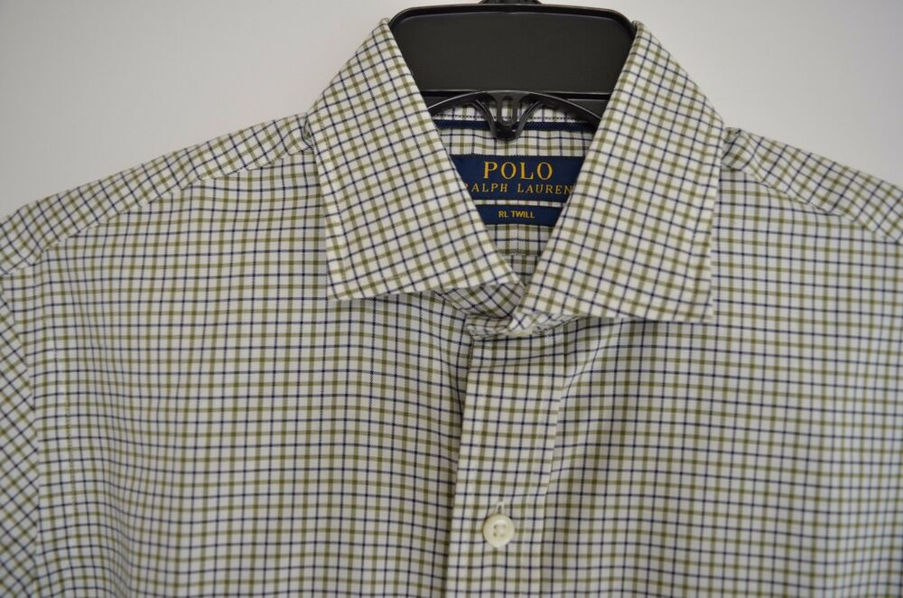 Details about POLO RALPH LAUREN RL TWILL OLIVE NAVY PLAID L S DRESS SHIRT  SIZE SMALL NWT  145 cd5c74782d73