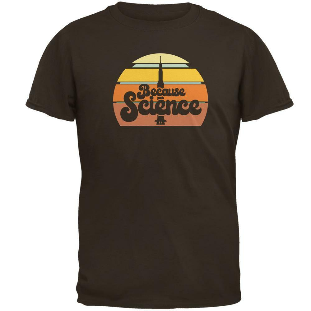 dc53f1b4 Details about Seventies Retro Because Science Mens T Shirt