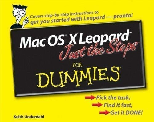 Mac Os X Leopard Just The Steps For Dummies For Dummies Computers