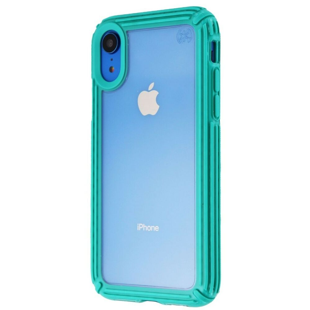 100% authentic 4c351 c4111 Speck Presidio V-GRIP Series Case for Apple iPhone XR - Clear/Caribbean  Blue 848709062468 | eBay