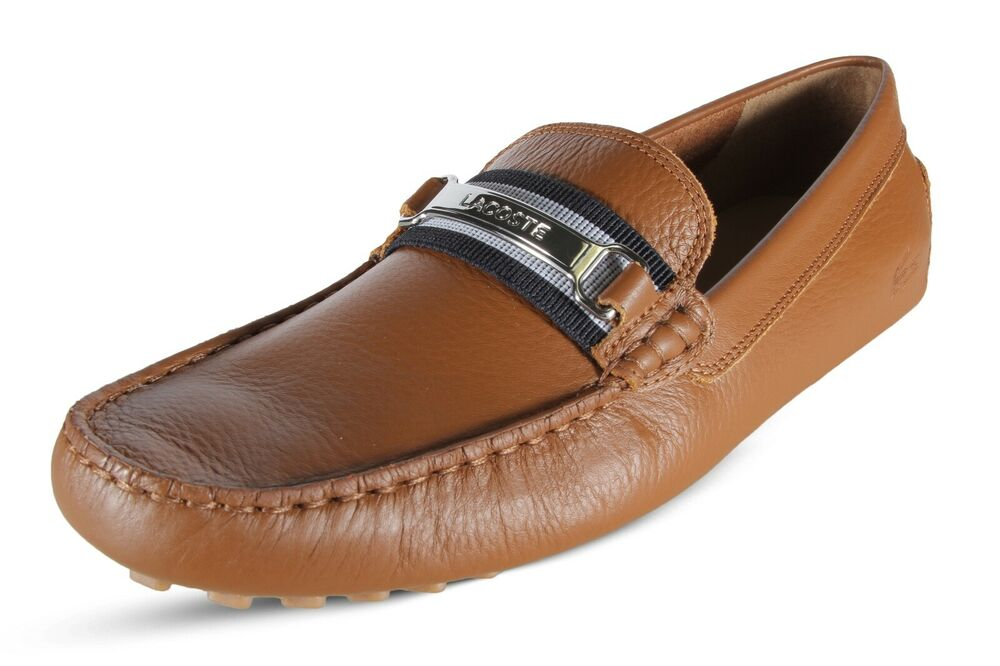 460763286 Details about Lacoste Ansted 119 1 U CMA Men s Driving Leather Moccasins Tan  7-37CMA00727E6