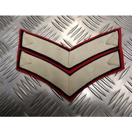 img-Genuine British Army Corporal Rank Chevrons Cermional Foot Guards EPB13W