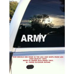 Army with Soldier Vinyl Decal 3'' x 7''