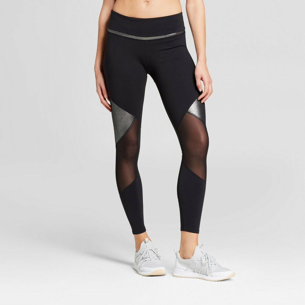 069239679f Details about Women's Premium 7/8 Shine and Mesh Pieced High-Waisted  Leggings - JoyLab - XS