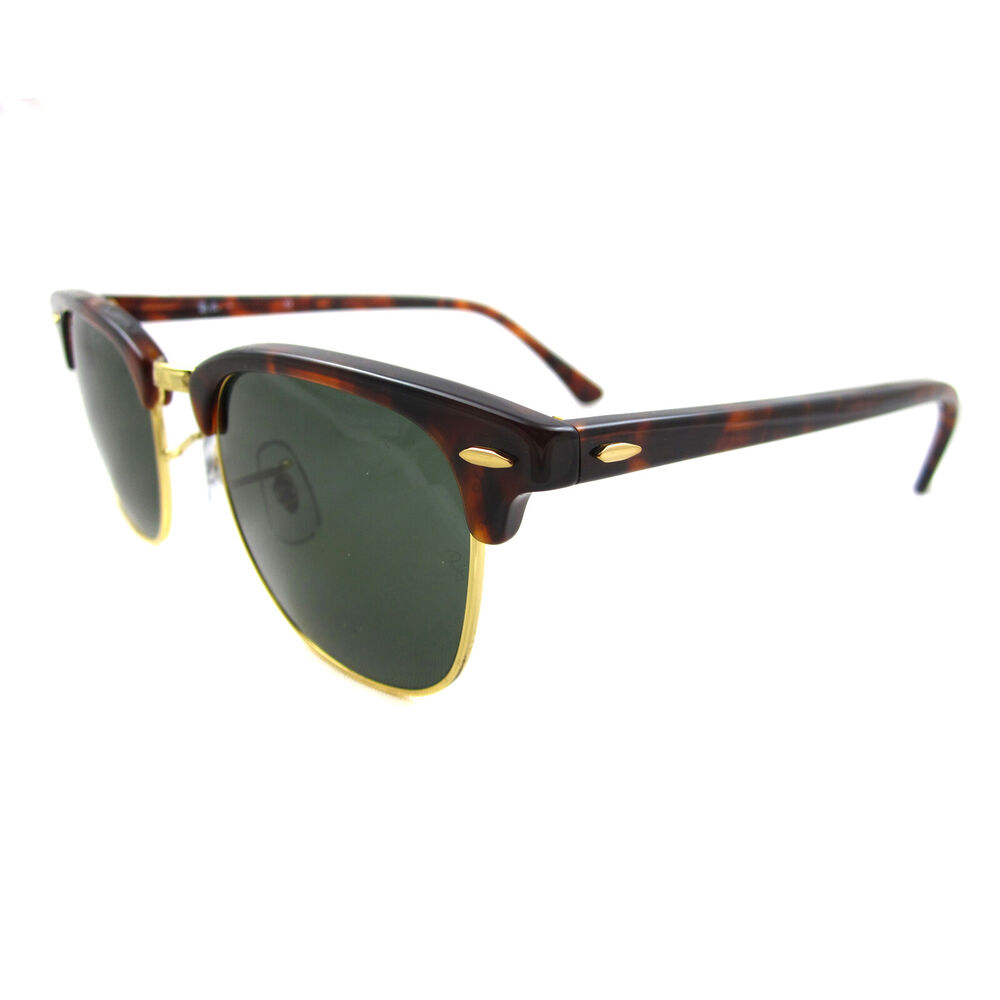 cd102813d0e Ray-Ban Sunglasses Clubmaster 3016 W0366 Havana Green G-15 Large 51mm