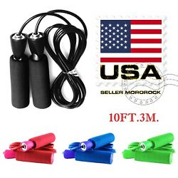 Kyпить Gym Aerobic Exercise Boxing Skipping Jump Rope Adjustable Bearing Speed Fitness на еВаy.соm