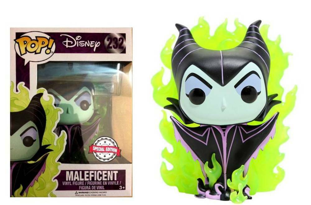 1e27f55345a Details about Disney Maleficent Green Flame special edition Pop! Funko  Vinyl Figure n° 232
