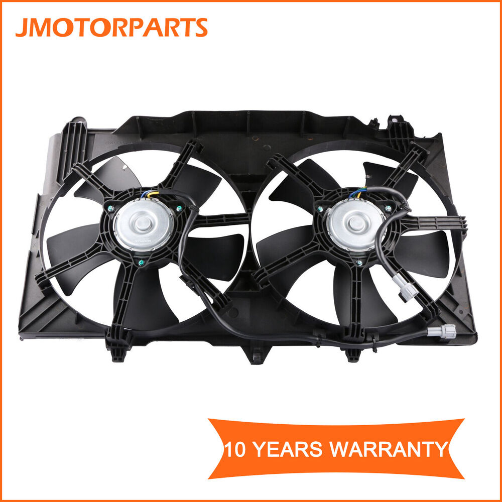 Details About Dual Radiator Cooling Fan Embly Fits 2003 06 Nissan 350z 07 Infiniti G35