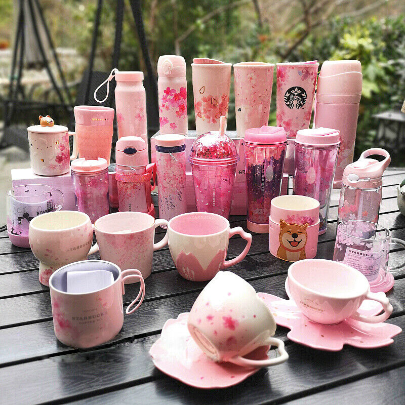 2019 limited edition starbucks cherry blossom series cup cat claw cup ebay. Black Bedroom Furniture Sets. Home Design Ideas