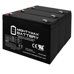 Mighty Max 6V 12AH Battery Replaces Cambridge instrument A05 Mobilizer - 3 Pack