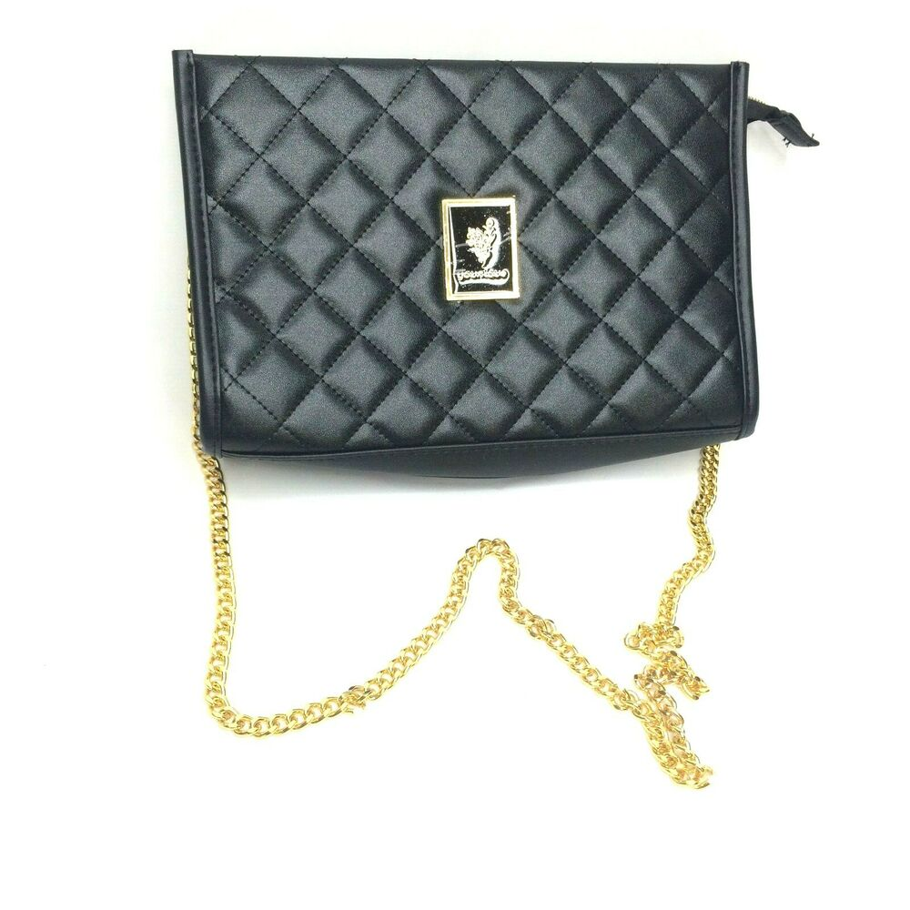 Younique Womens Black Quilted Purse with