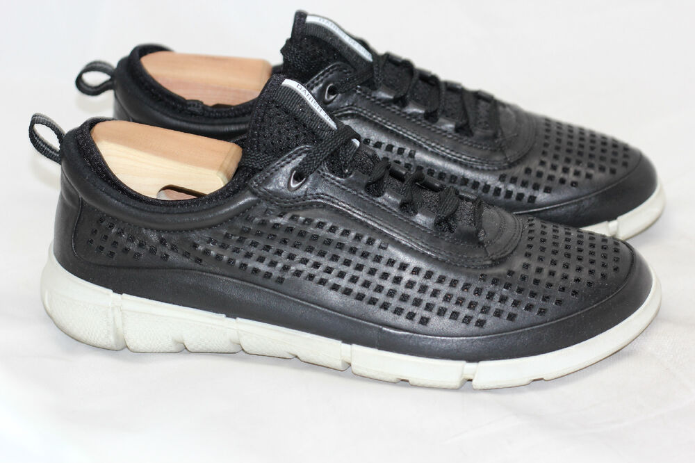 89f28789 Details about Mens ECCO Sport 'Intrinsic' Perforated Sneakers - Black - 42  / 8 - 8.5US (W24)