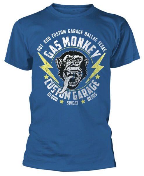 Gas Monkey Garage 'Lightning Bulloni' T-Shirt - Nuovo e Originale