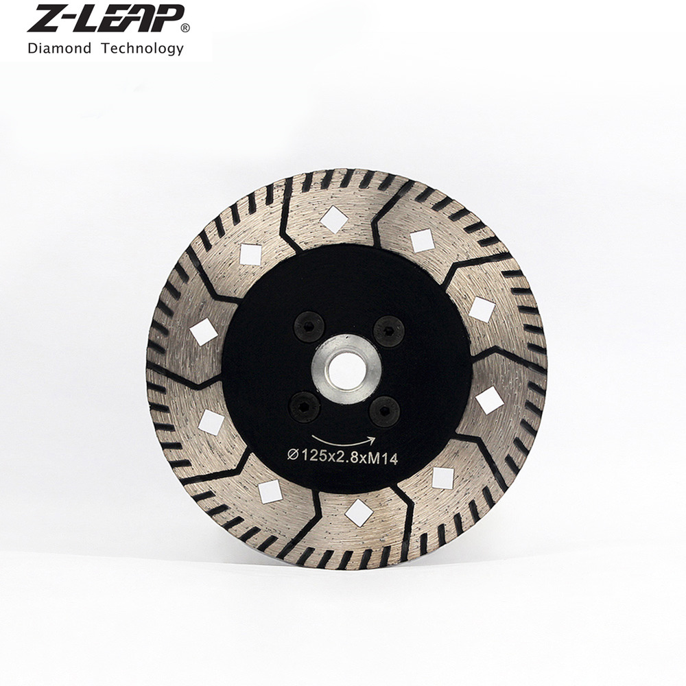 5'' Diamond Turbo Saw Blade Cutting Disc with Flange M14