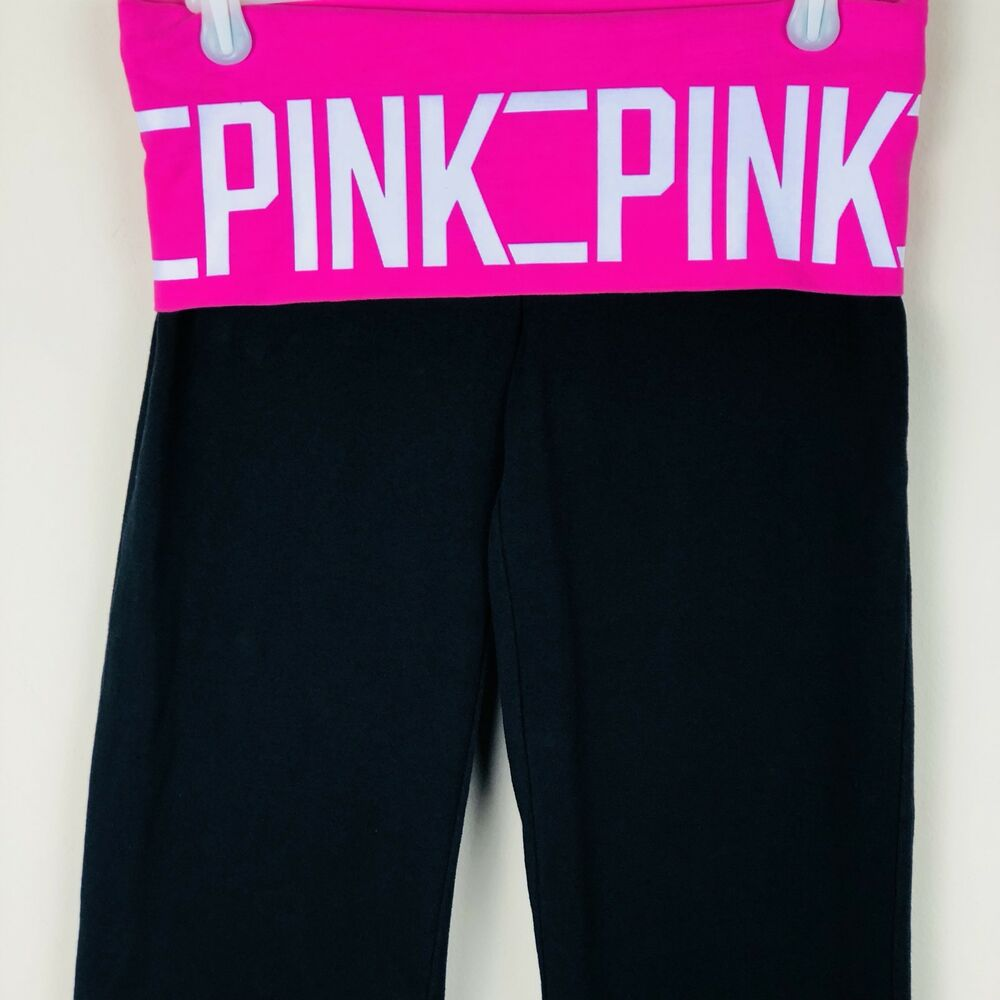 Size Small Popular Brand Victoria's Secret Brand Pink Yoga Black Shorts Activewear Bottoms