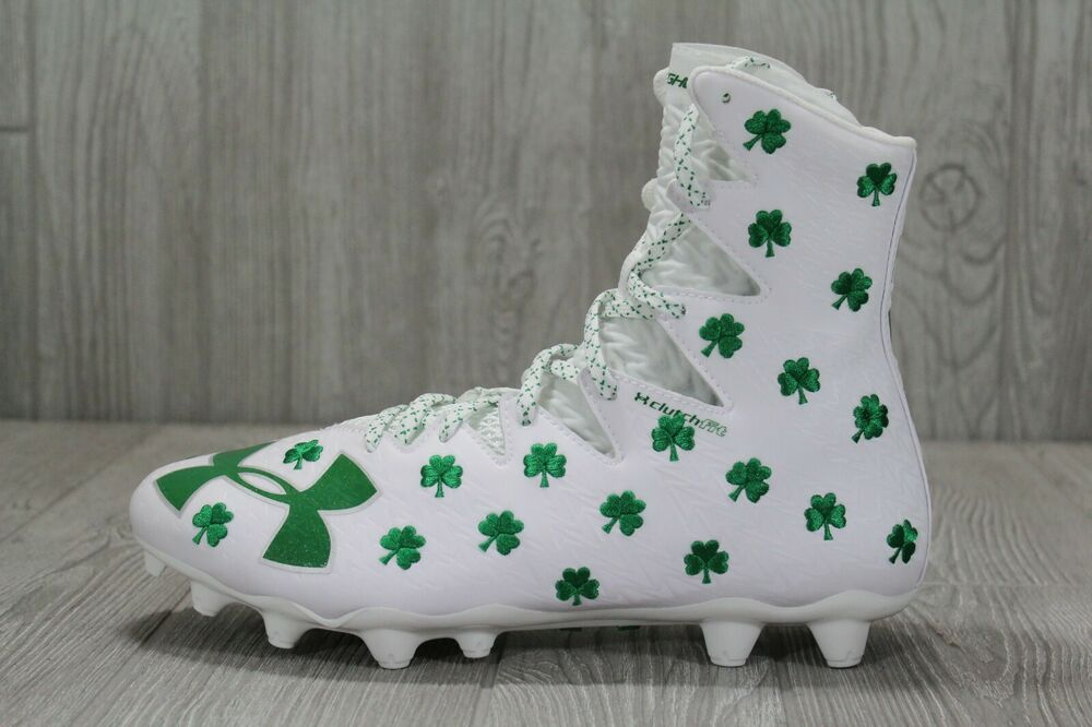 2dbdc5527c9 Details about 39 Under Armour Highlight MC LE Clover Shamrock Football  Cleats 7-12 1297354-131