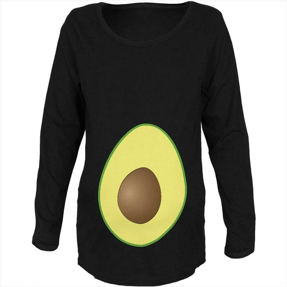 23efb38cb5 Details about Halloween Avocado Costume Maternity Soft Long Sleeve T Shirt