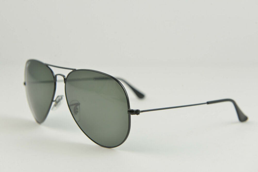 a22fddd740 Details about Ray-Ban sunglasses RB3025 AVIATOR LARGE METAL 002 58 62-14  140 Black polarized