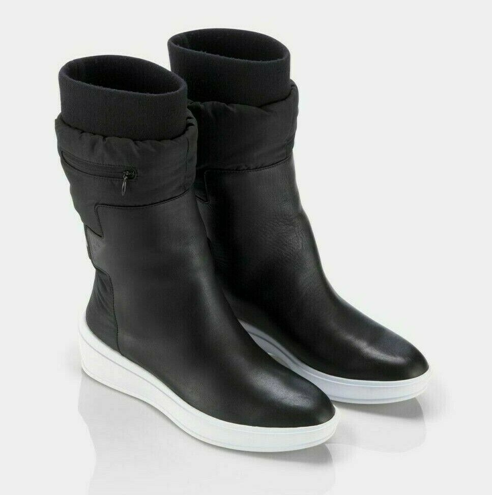 f64d1a91ae5f Details about Under Armour Sport UAS Elevated Women 7 Black Puffa White  Wedge Boots NEW  190