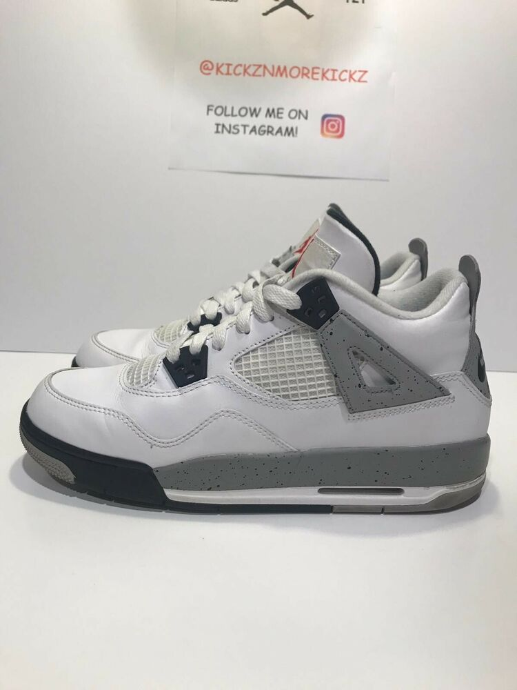 519aa25f98e9 Details about Nike Air Jordan 4 4s IV Cement Gray 2016 Nike Air 836016 192  Size 7Y