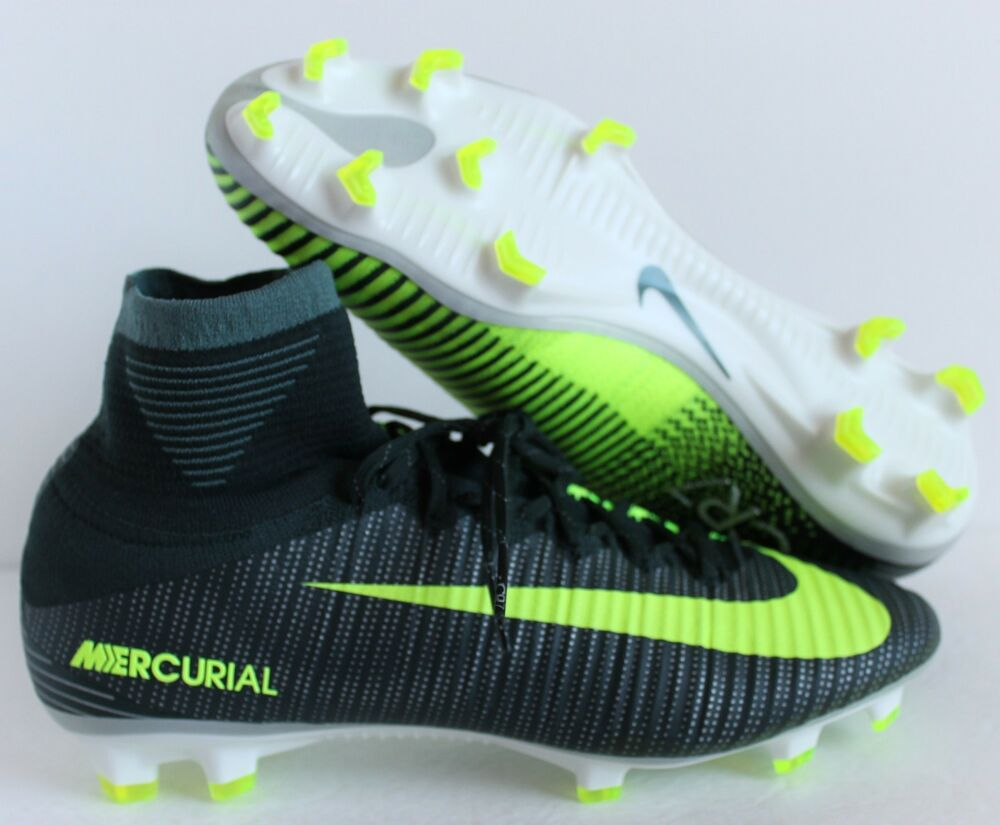 brand new e020c a5270 Details about NIKE MERCURIAL SUPERFLY V CR7 FG SEAWEED-VOLT-HASTA-WHITE SZ  10  852511-376