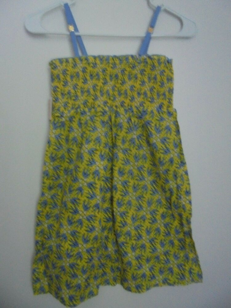 e9423c4a1cb00 Details about JUICY COUTURE GIRLS COVER UP/DRESS LOVE BIRDS YELLOW $70 Sz L  NWT