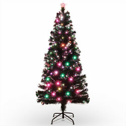 Kyпить 7FT Artificial Pre-lit Christmas Tree w/ Color LED Lights & Metal Stand, Green на еВаy.соm