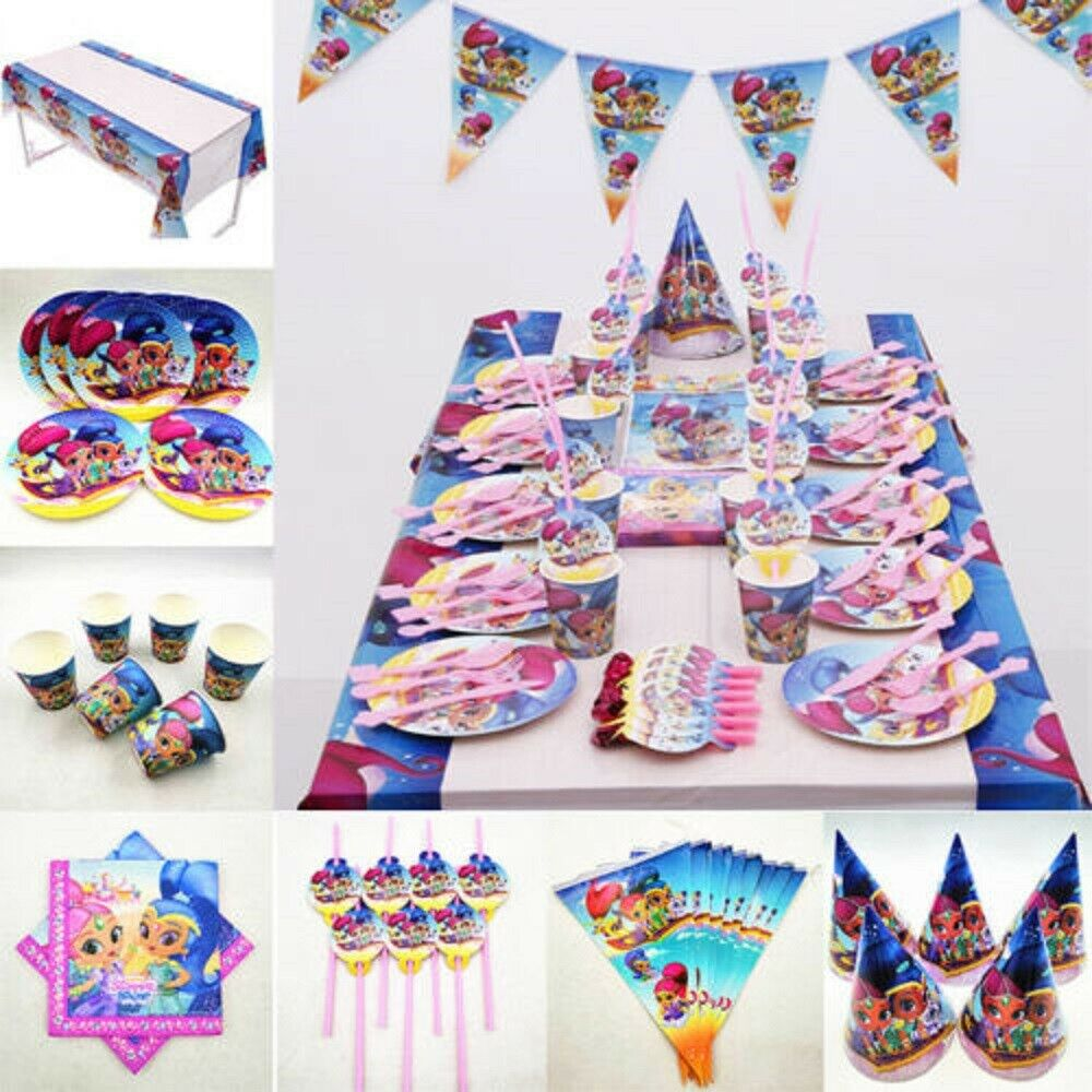 Details About SHIMMER SHINE BIRTHDAY PARTY DECORATION TABLE COVER PLATES CUP NAPKINS BUNTING