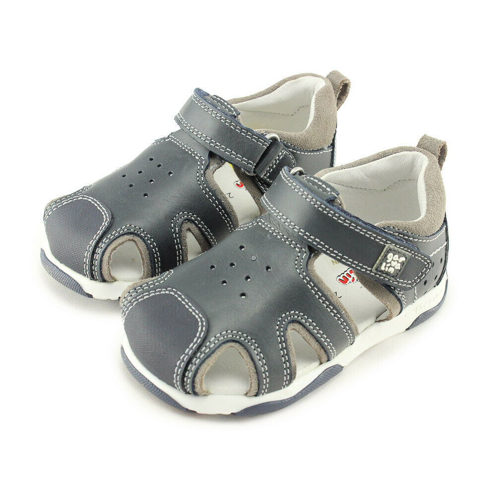 45d82d678 Details about Garvalin Boys Closed Toe Leather Sandals (192321 A Azul  Marino) Made in Spain