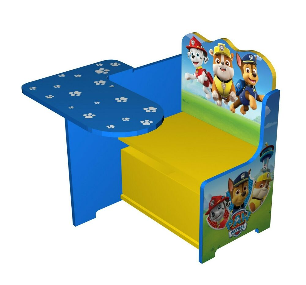 Paw Patrol Toy Organizer Bin Cubby Kids Child Storage Box: Paw Patrol Wooden Kids Work Bench Toy Box Storage.Table