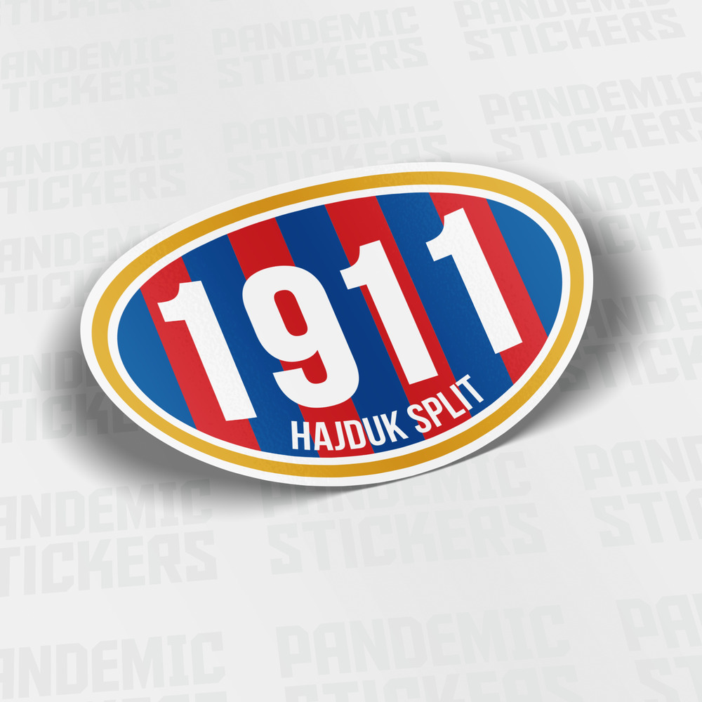 Details about hajduk split croatia sticker calcomania vinyl decal soccer ultras zagreb
