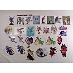 LOT OF 33 FAIRY STICKERS AND POSTCARDS NENE THOMAS AMY BROWN YU JEAN DREAM FAIRY