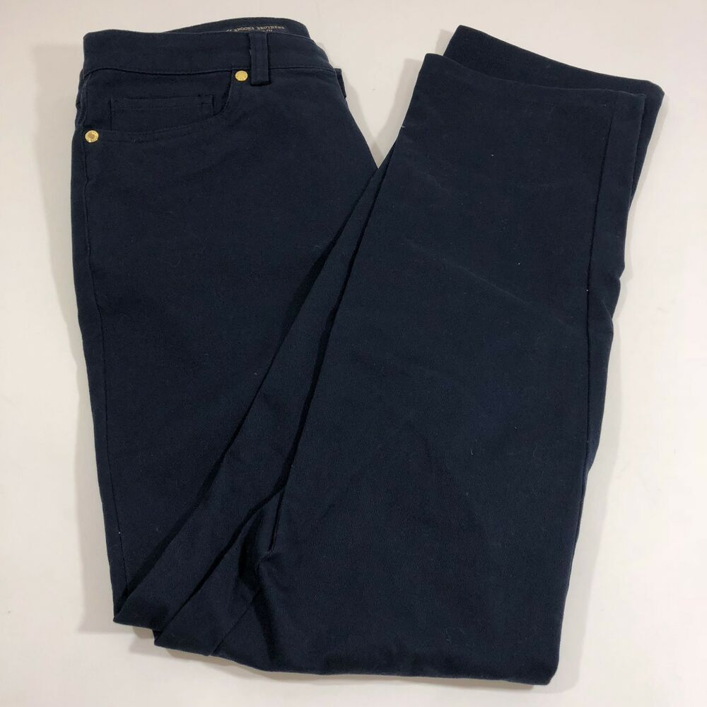 26706def93 Details about Brooks Brothers 4 Skinny Jeans Trouser Navy Blue Cotton  Stretch Natalie Fit 346