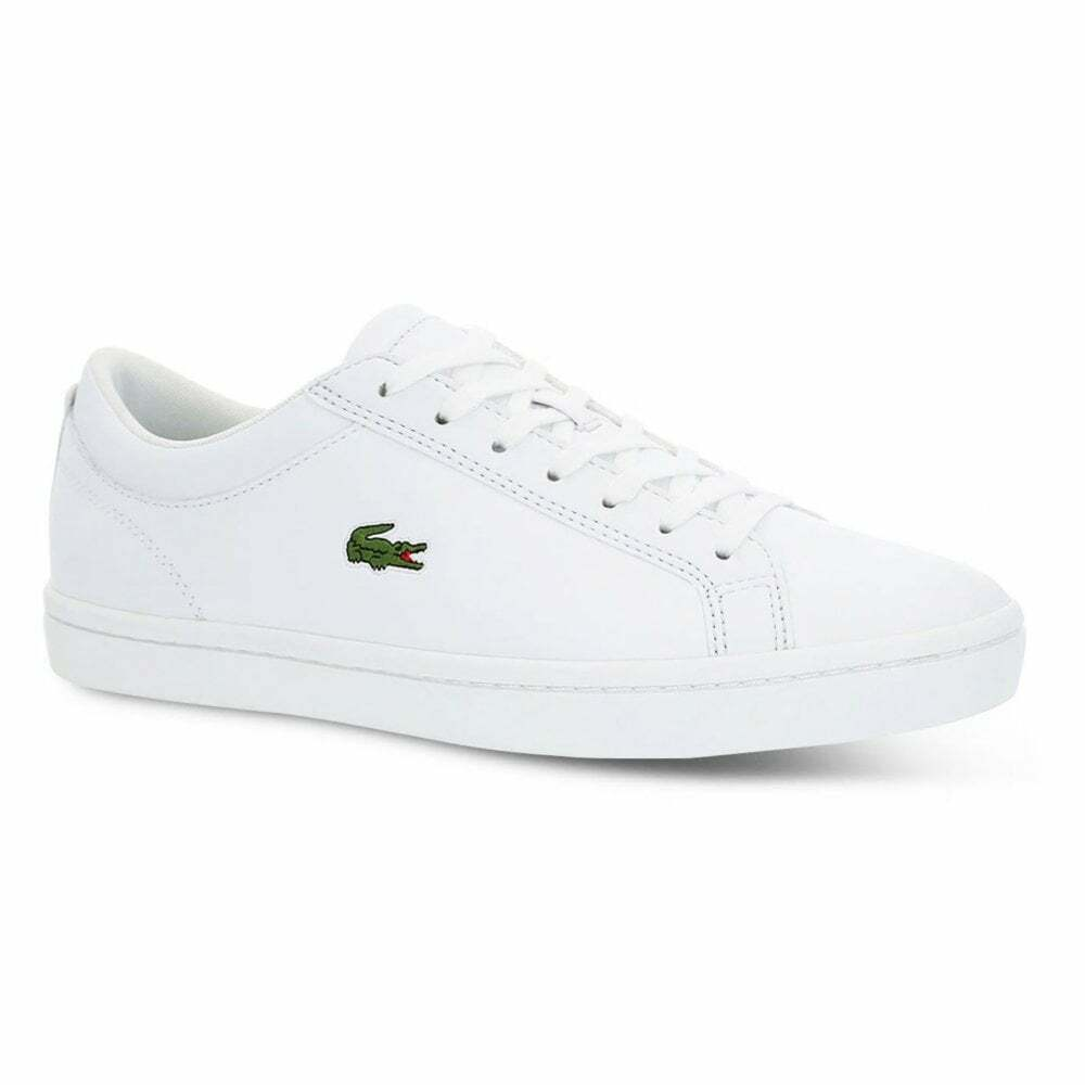 5e4c3b6be Details about Lacoste Straightset BL 1 Synthetic   Leather (N200) White  Mens Trainers